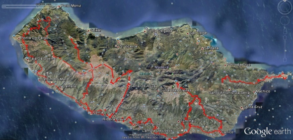 Mina rutter var jag har cyklat på ön